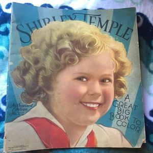 Antique Home Shirley Temple 1936 Coloring Book